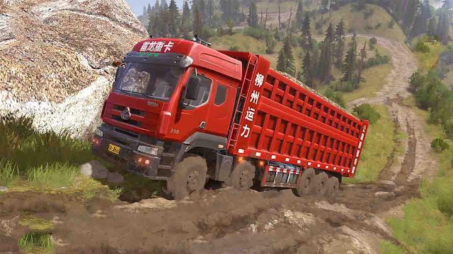 Mod Dump Truck Dongfeng Balong-350 6X12 Spintires Mudrunner