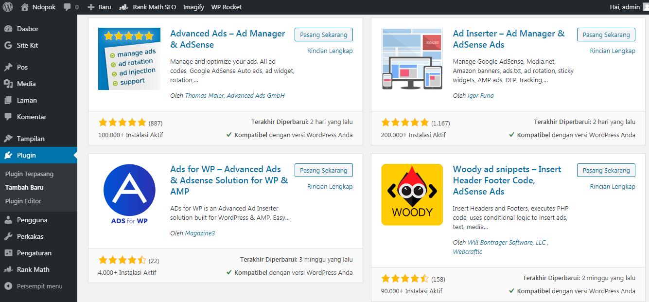 Plugin Ads WordPress