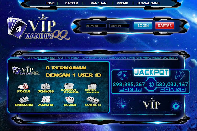 VIPMANDIRIQQ | SITUS DOMINOQQ JUDI ONLINE TERPERCAYA 2019