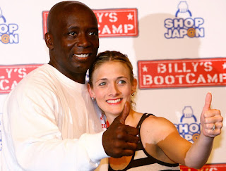 Gayle Godfrey with her ex-husband Billy Blanks