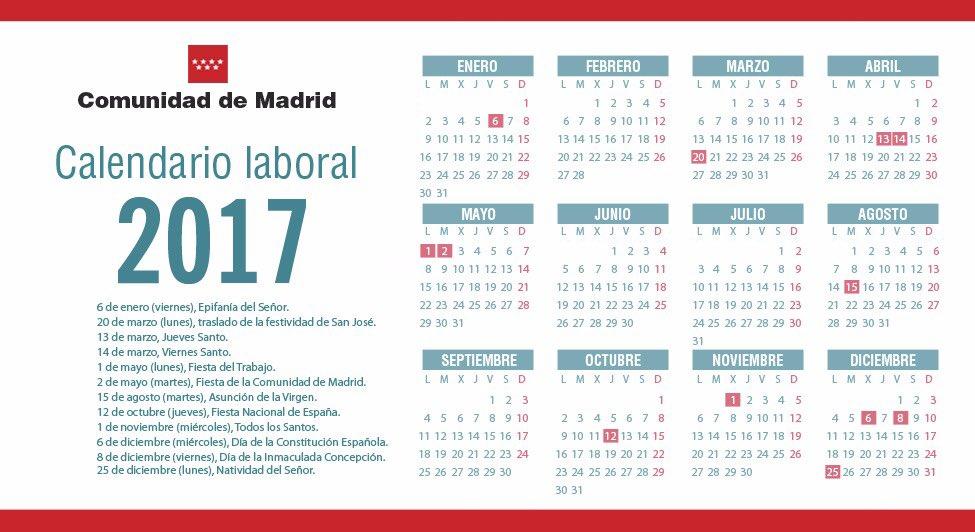 Las tablas digital 12 d as festivos en el calendario for Eventos madrid mayo 2017