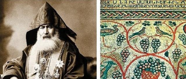 El patriarca armenio de Jerusalén devolvió un antiguo mosaico a la iglesia armenia