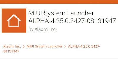 Update Terbaru System Launcher MIUI versi ALPHA-4 25.0.3427 MIUI 13