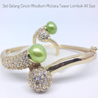Model Set Perhiasan Mutiara Tawar