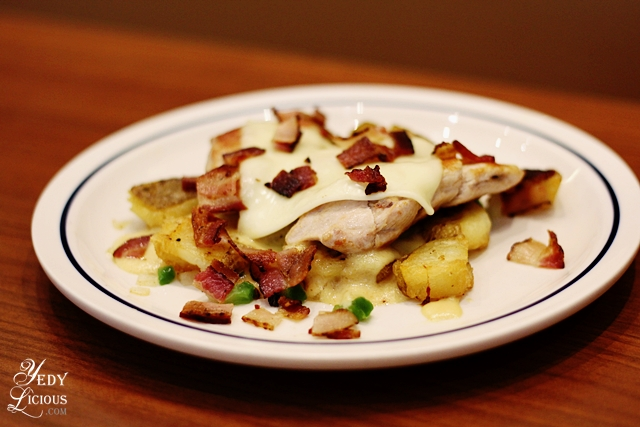 Bacon Topped Chicken Breast with Potato Hash  IHOP PH
