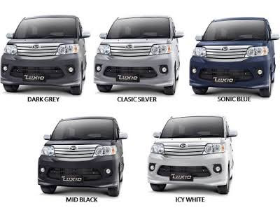 Warna luxio, Warna Daihatsu luxio, Warna Mobil luxio, Warna Mobil