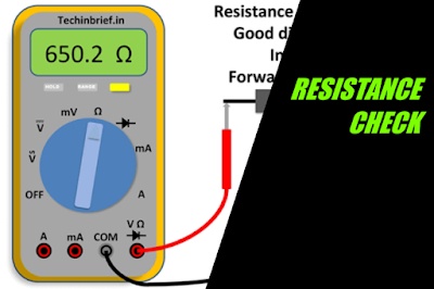RESISTANCE CHECK FROM MULTIMETER