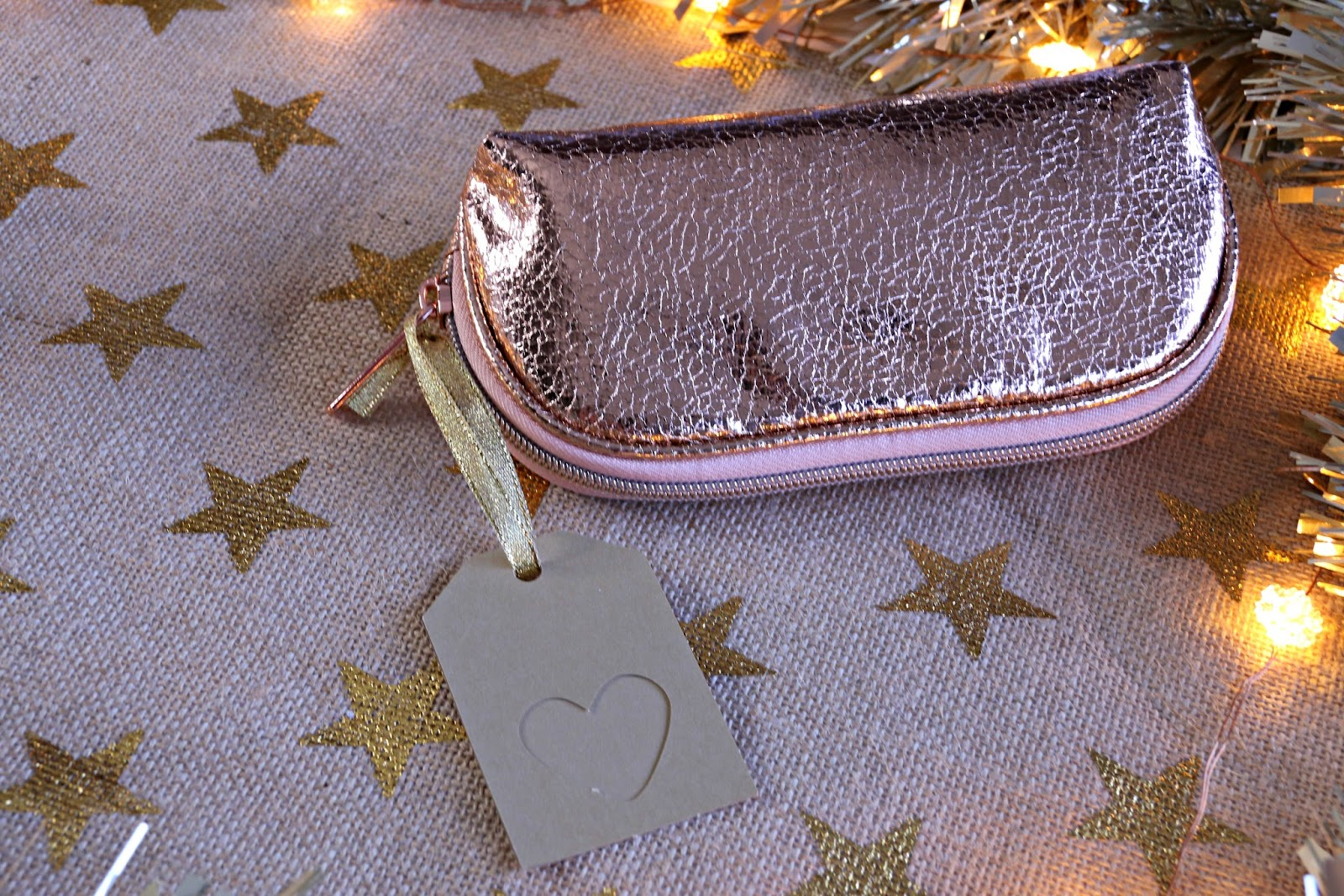 Superdrug distressed rose gold makeup bag Image
