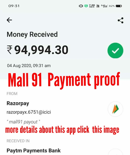 Mall 91 Big Payment proof 2020