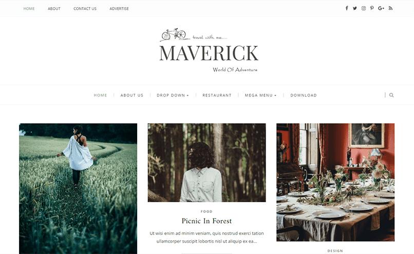 Maverick responsive blogger template
