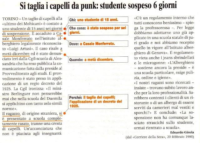 1 Regola 5 W Giornalismo Silvana Calabrese