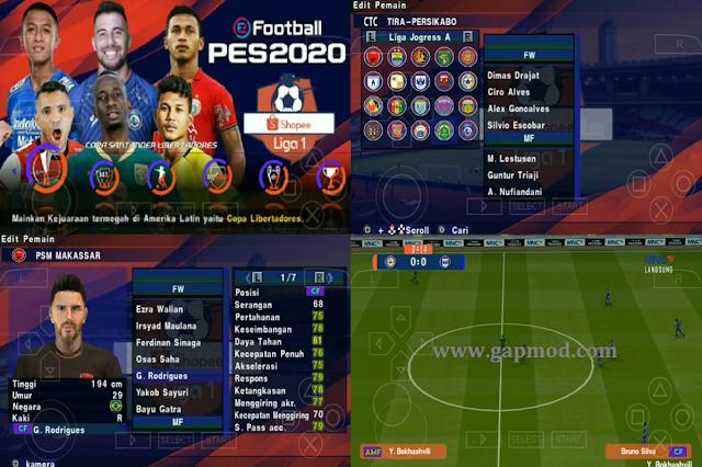Download PES 2020 Jogress V3.5 by Gila Game Mod Shopee Liga 1 Indonesia