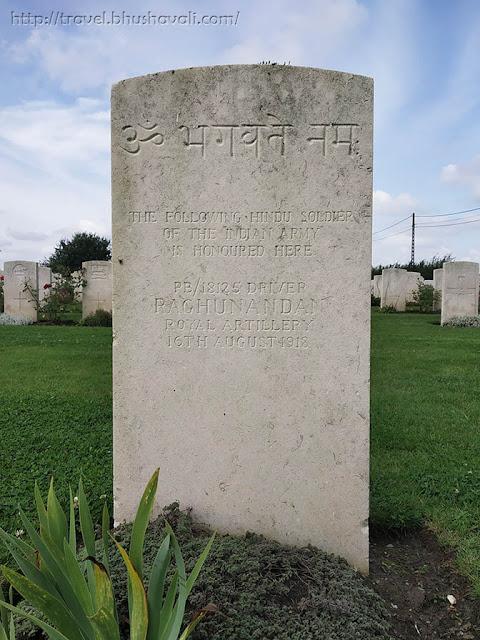 WWI Soldiers Indian Graves in Belgium Nine Elms Military Cemetery