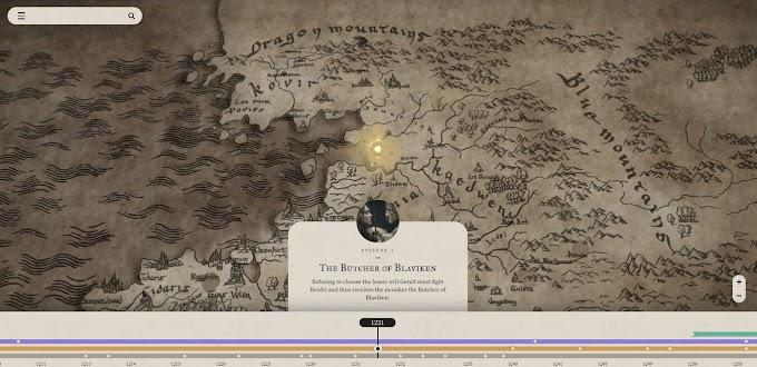 Netflix publica un mapa interactivo para poder guiarte en la serie The Witcher