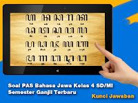 Soal PAS Bahasa Jawa Kelas 4 SD/MI Semester Ganjil Terbaru + Kunci Jawaban