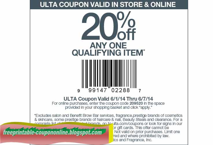 Ulta coupons printable april 2018  Eating out deals in glasgow city