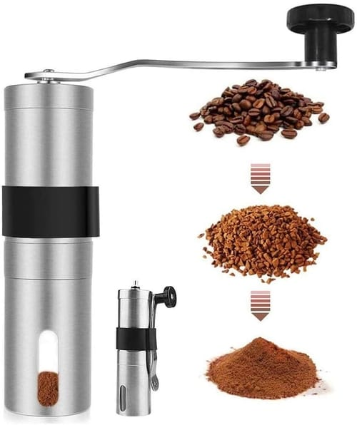 9Lucky Tech Burr Mill Stainless Steel Coffee Grinder
