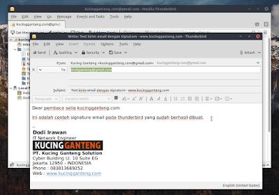 Tutorial Cara Membuat Signature Email di Mozilla Thunderbird
