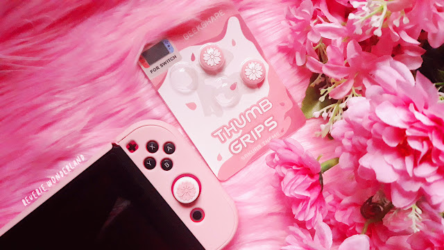 Geekshare Nintendo Switch Sakura Pink Thumb Grip Reverie Wonderland
