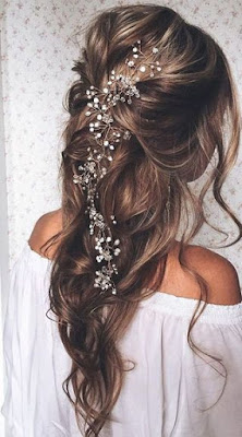 peinado de novia con accesorio