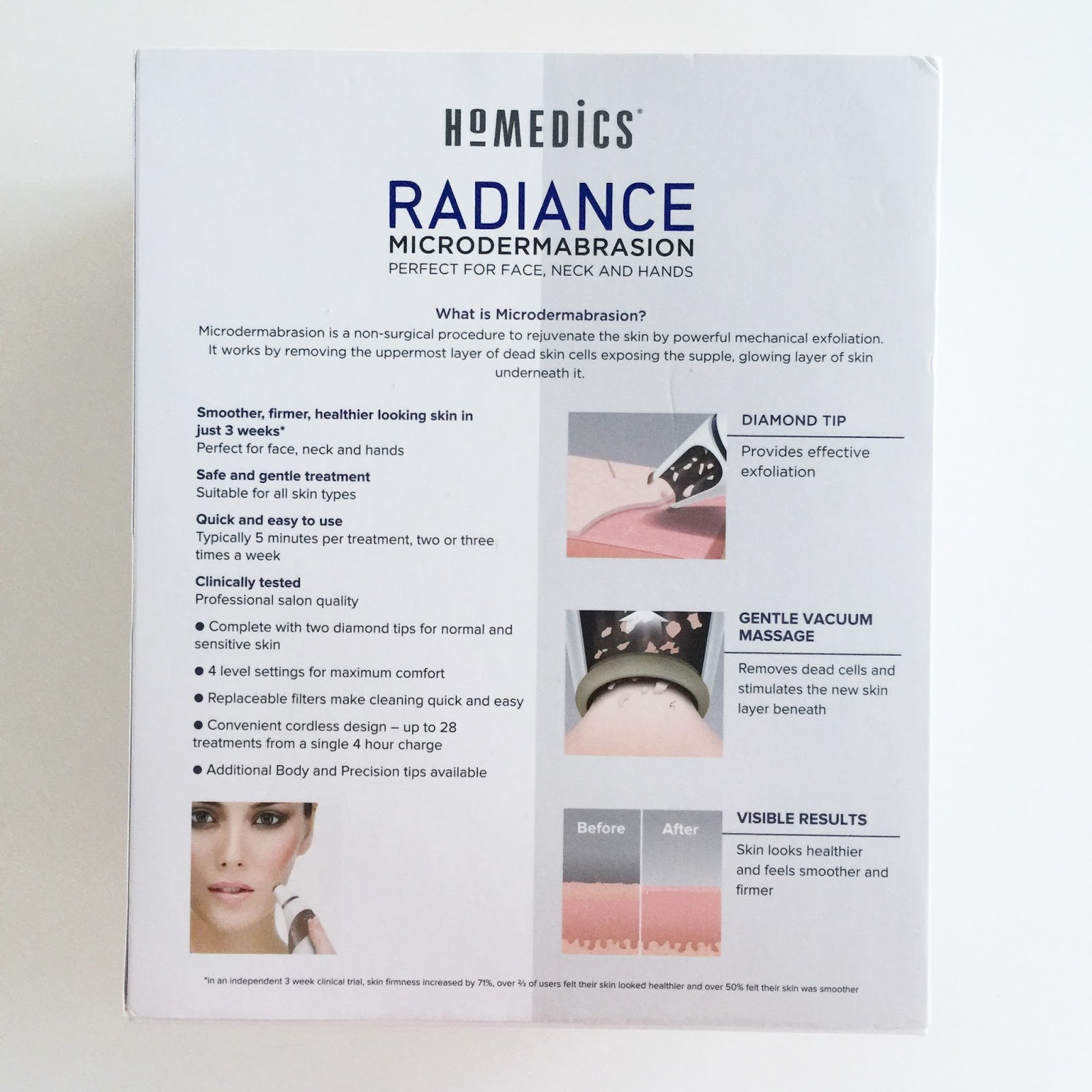 PRODUCT REVIEW: HOMEDICS RADIANCE MICRODERMABRATION | The Beauty