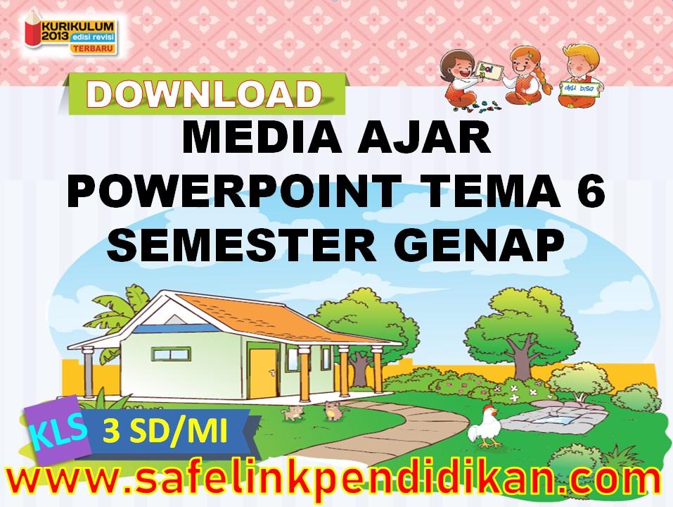 Media Ajar Powerpoint Tema 6 Subtema 1 2 3 4 Kelas 3 SD/MI