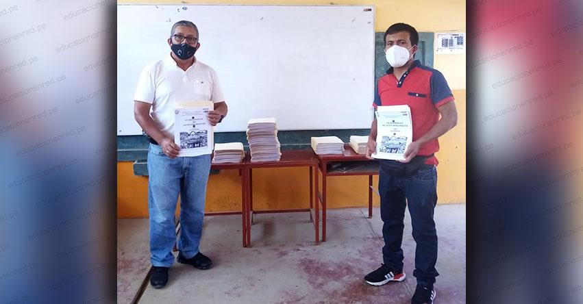 Entregan cuadernillos de aprendizaje a escolares de Íllimo en Lambayeque