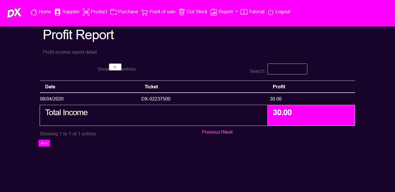laporan detail penjualan pada kasir aplikasi toko kasir online penjualan kasir