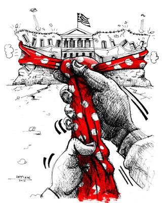 Γελοιογραφία : Σφίγγει κι άλλο η γραβάτα IaTriDis