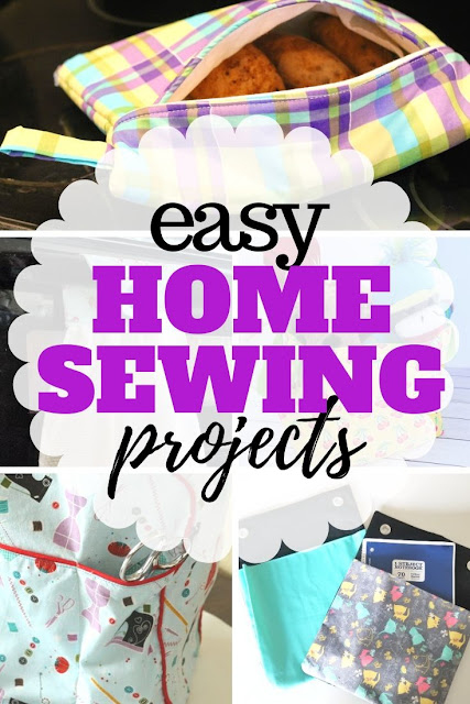 Sewing for the home doesn't have to be hard.  Check out the more than 30 free easy sewing projects for the home.