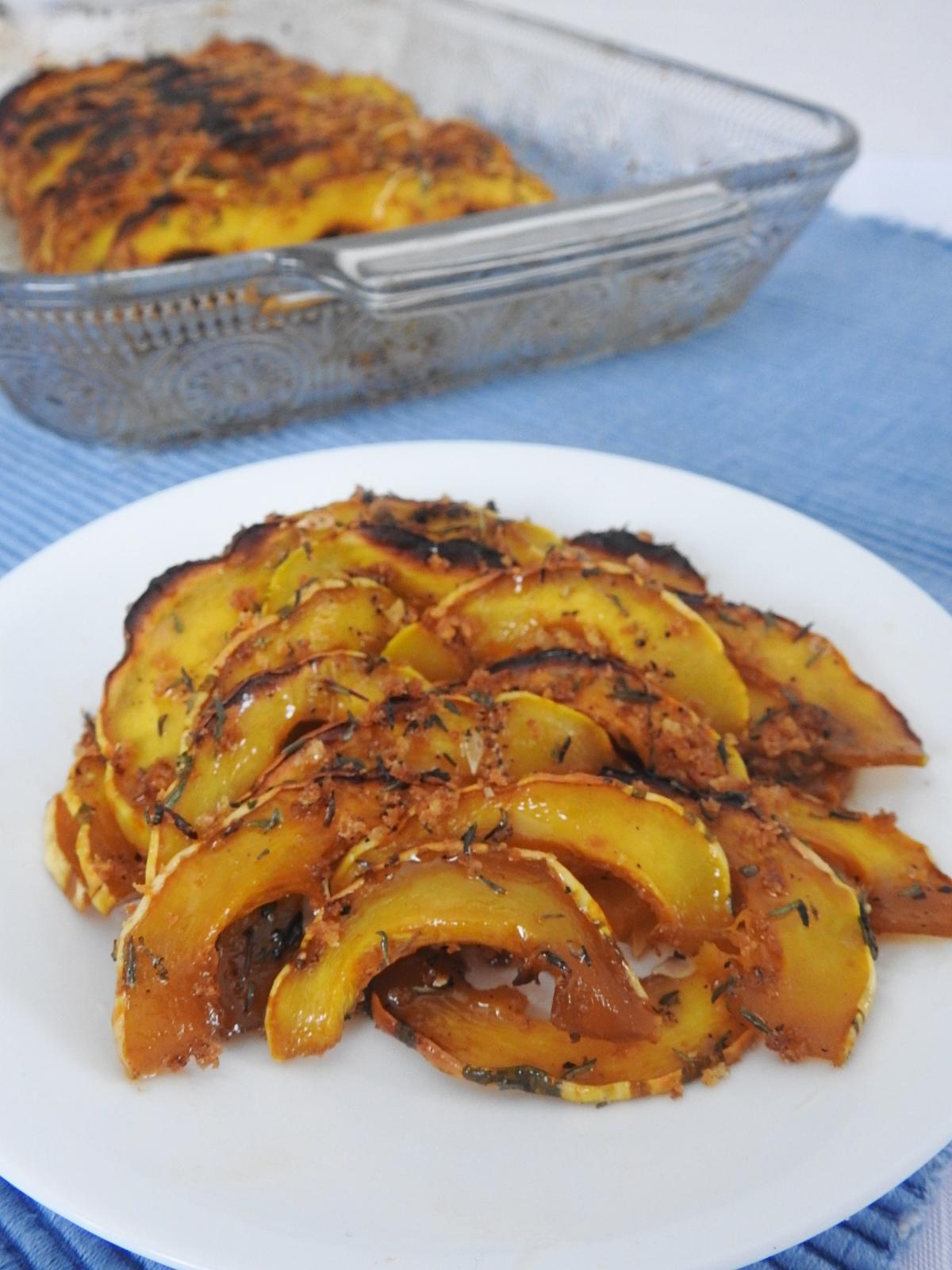 Crunchy Maple Glazed Squash