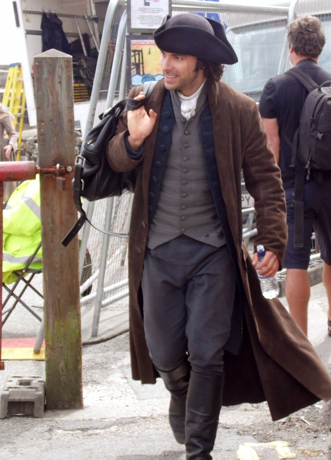 Filming In Progress The Most Beautiful Actress In The World: Poldarked: Aidan Turner Filming Poldark In Charlestown