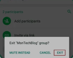 Cara Keluar dari Grup Chat WhatsApp Secara Permanen 4