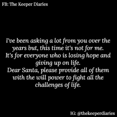 This Christmas be the Santa 🎅 People Need | The Keeper Diaries