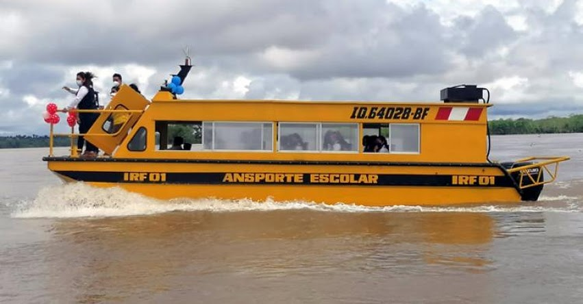 MINEDU: 200 estudiantes de Loreto y Ucayali llegan al colegio por vía fluvial