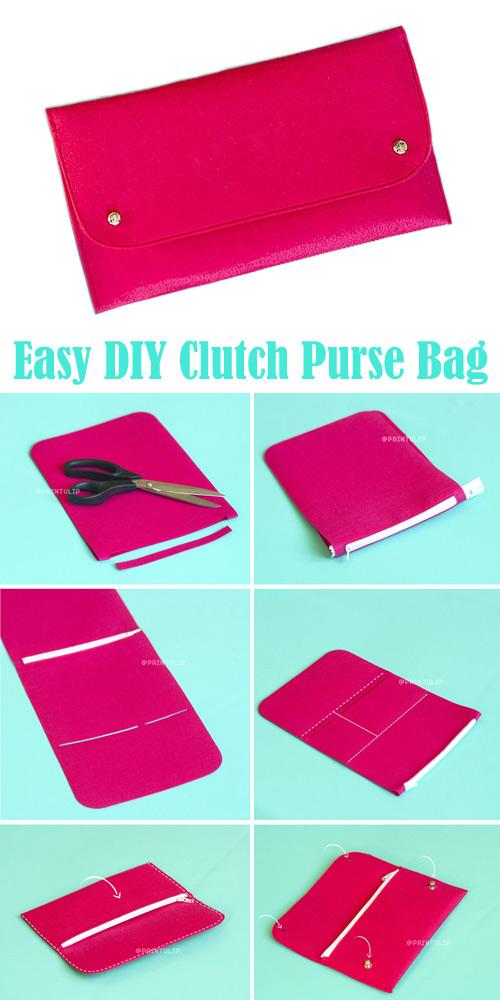 Easy DIY Clutch Purse Bag