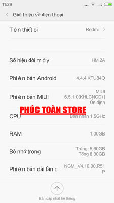 Tiếng Việt redmi HM 2A alt