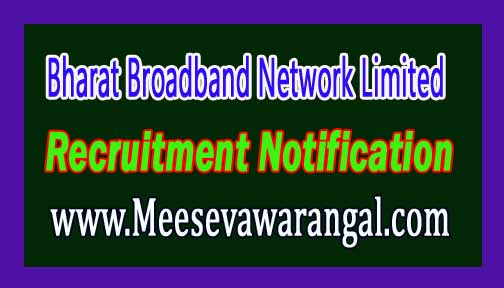 BBNL (Bharat Broadband Network Limited) Recruitment Notification 2016