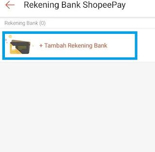 Tarik saldo Shopeepay ke BANK
