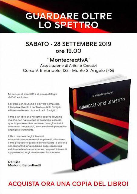 """""""Guardare oltre lo spettro"""", il libro della montanara Mariana Berardinetti presentato a Monte Sant'Angelo da MontecreativA"""
