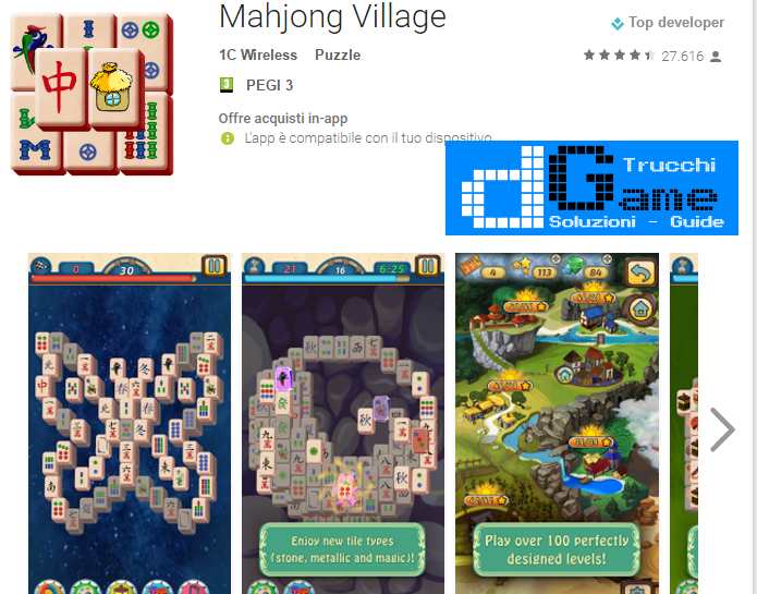 Trucchi Mahjong Village Mod Apk Android v1.1.35