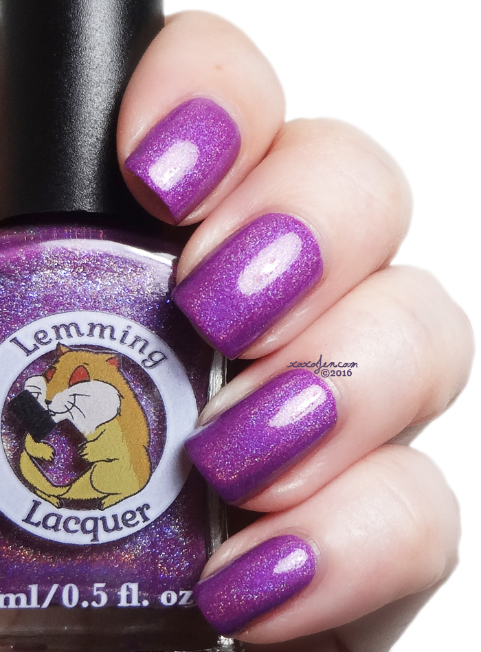 xoxoJen's swatch of Lemming Lacquer Gimme a Boost and Call Me Invincible
