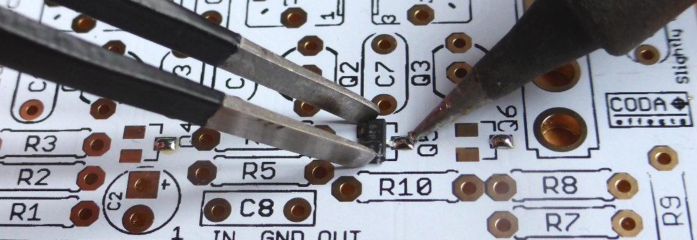How to solder SMD JFET transistors