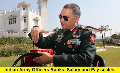 Indian Army Officers Ranks, Pay Scales (Salary) and Allowances