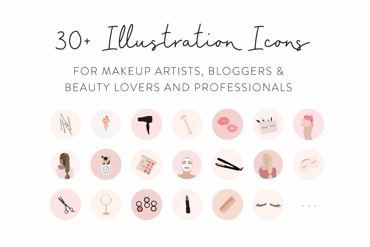 Beauty Instagram Highlight Icons | My Boutique Themes