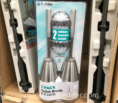 Easily scrub and clean your toilets with the Polder Stainless Steel Toilet Brush
