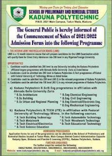 kadpoly ijmb admission form