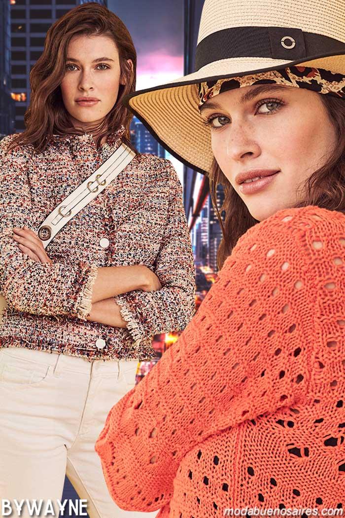 Moda tejidos primavera verano 2020. Moda 2020 tejidos.