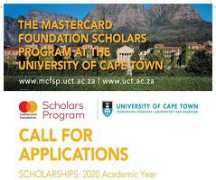 Full Funded: University of Cape Town MasterCard Foundation