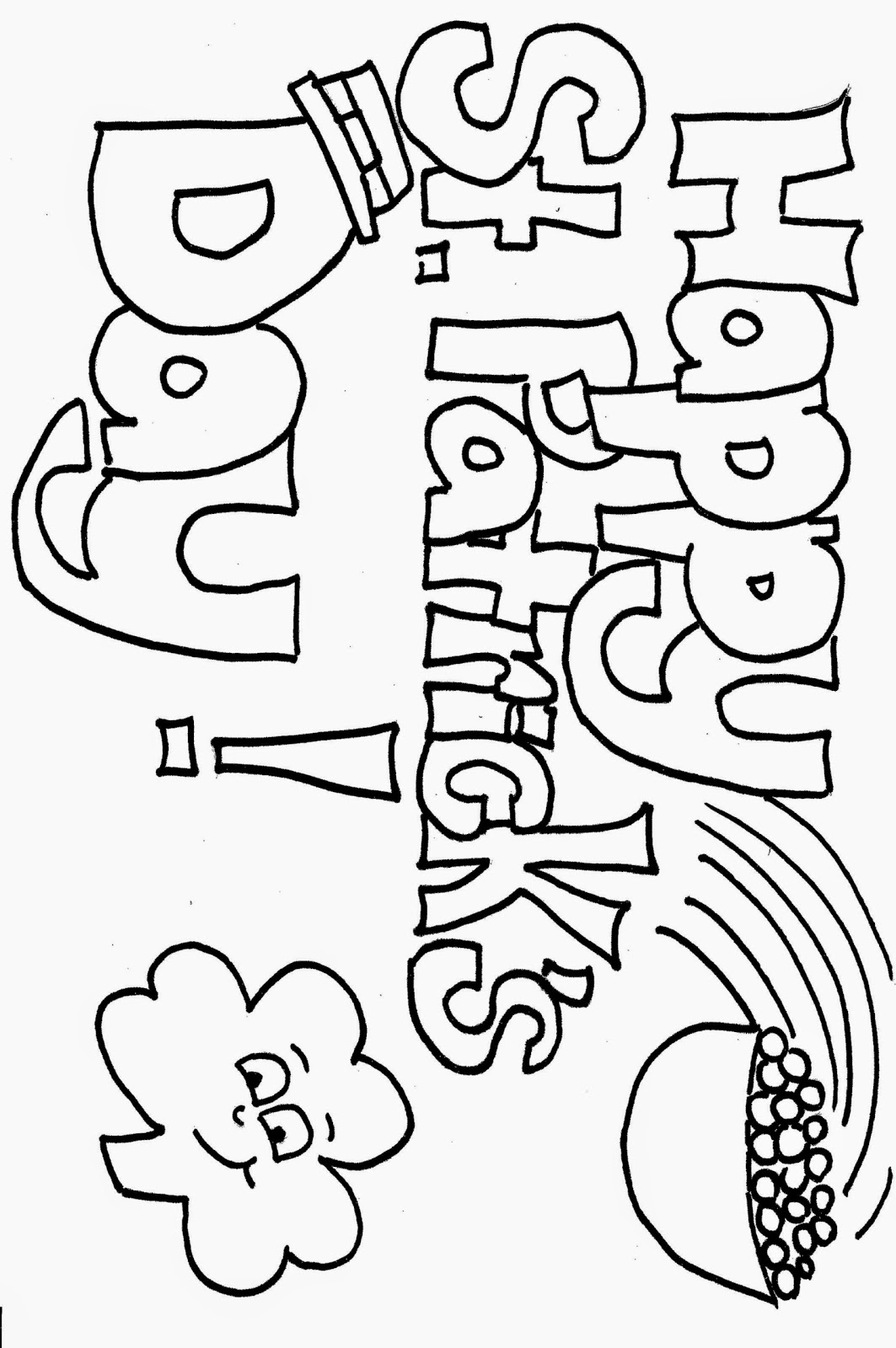 St patricks coloring sheets free coloring sheet for Free st patrick s day printable coloring pages
